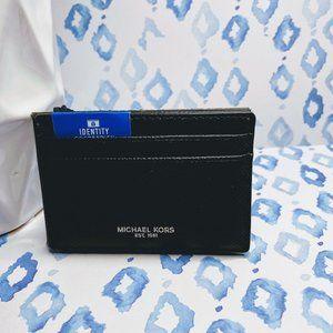 Michael Kors Men Black Card Case/Holder Wallet